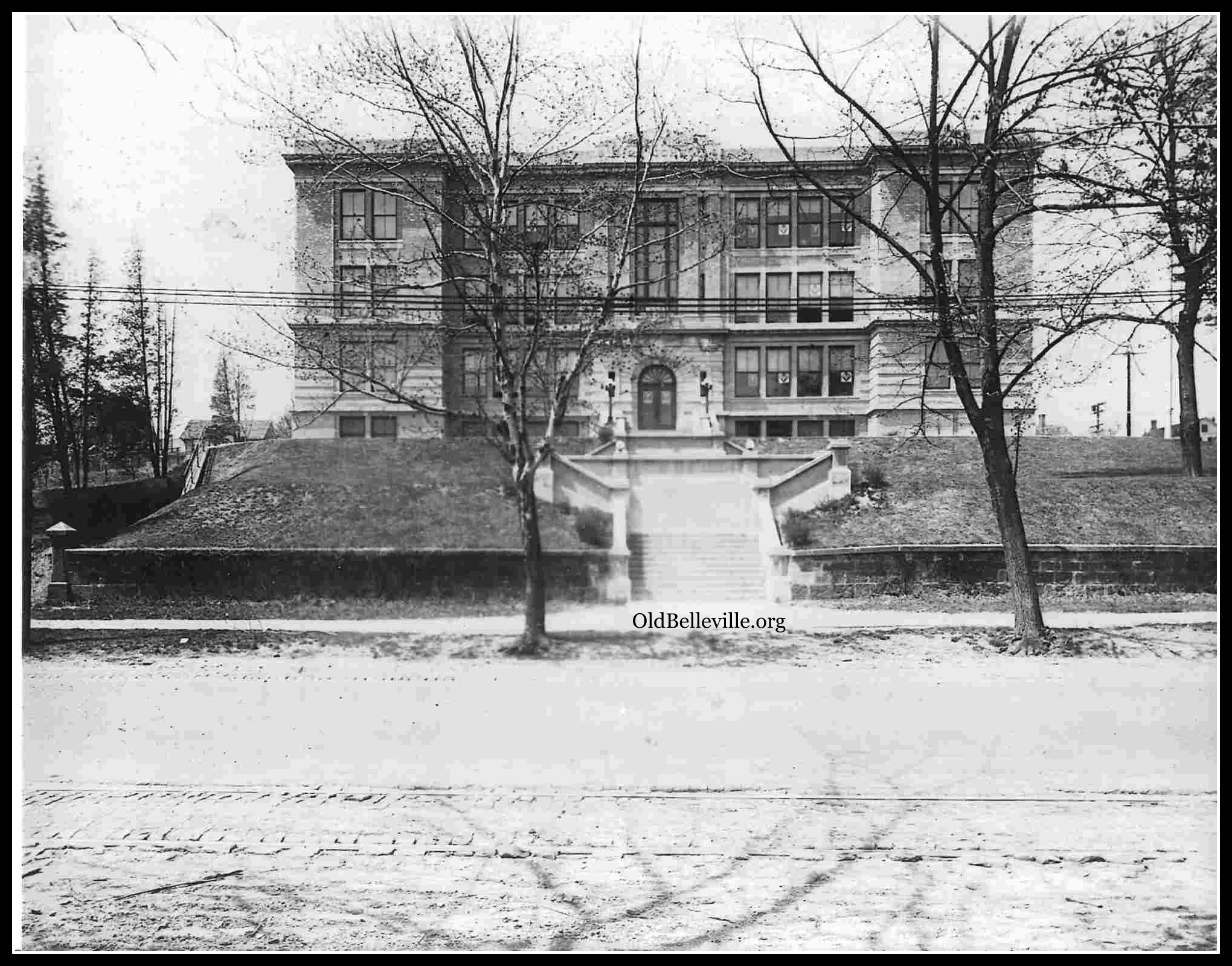Belleville High School, approx 1915 footprint, Belleville NJ