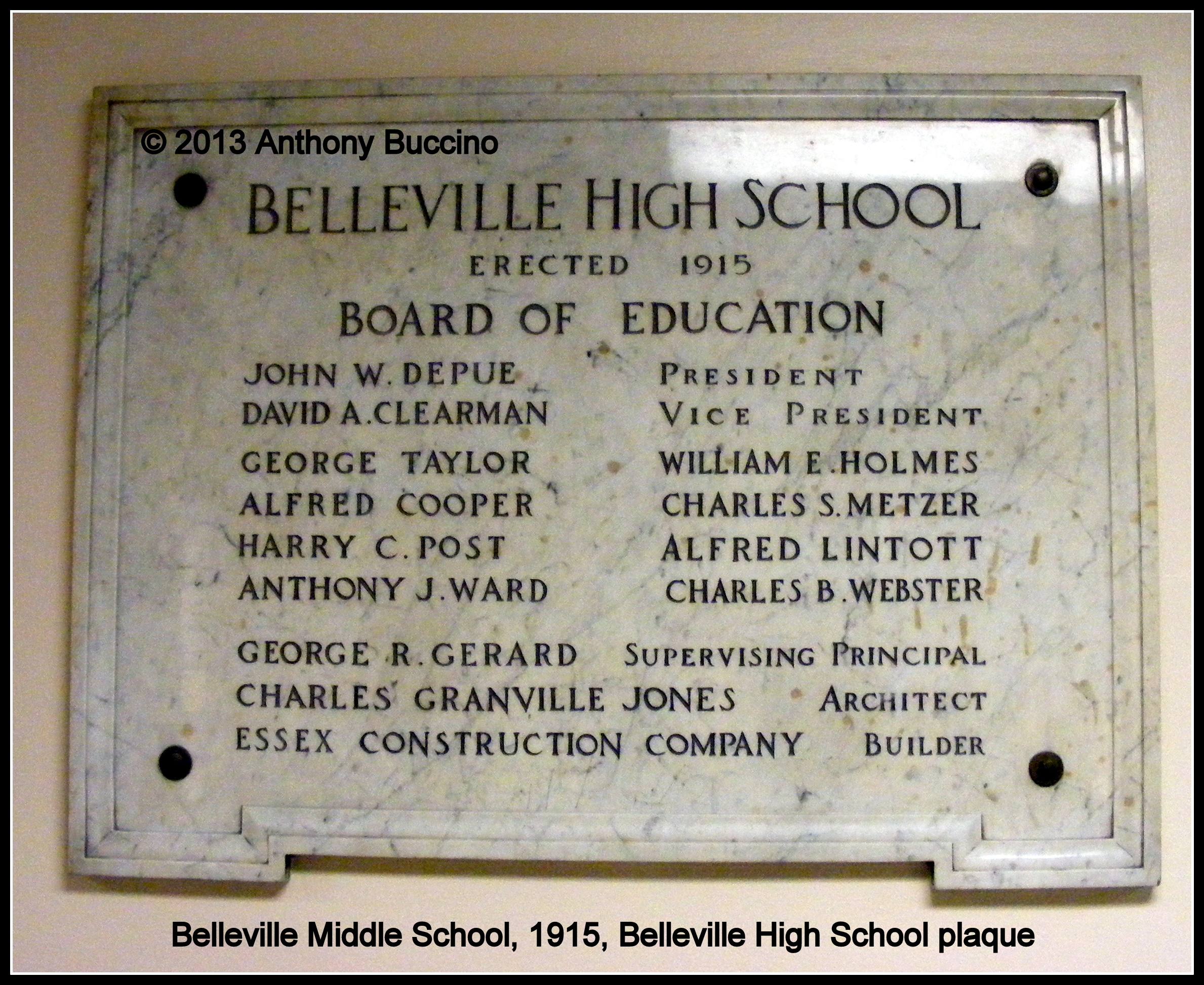 Belleville High School, built 1915, Belleville, NJ