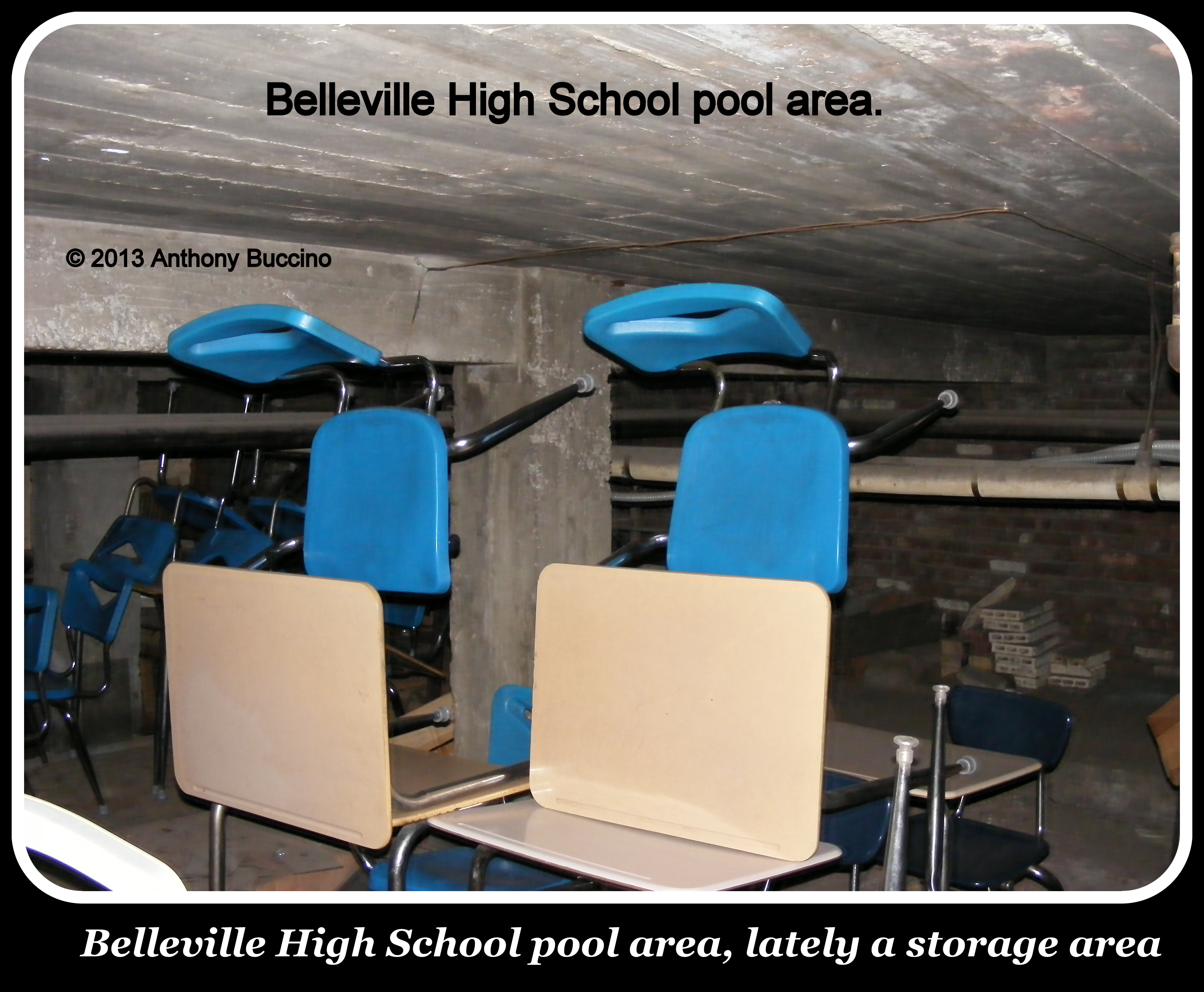 Former swimming pool at Belleville High School, Washinton Ave, Belleville NJ
