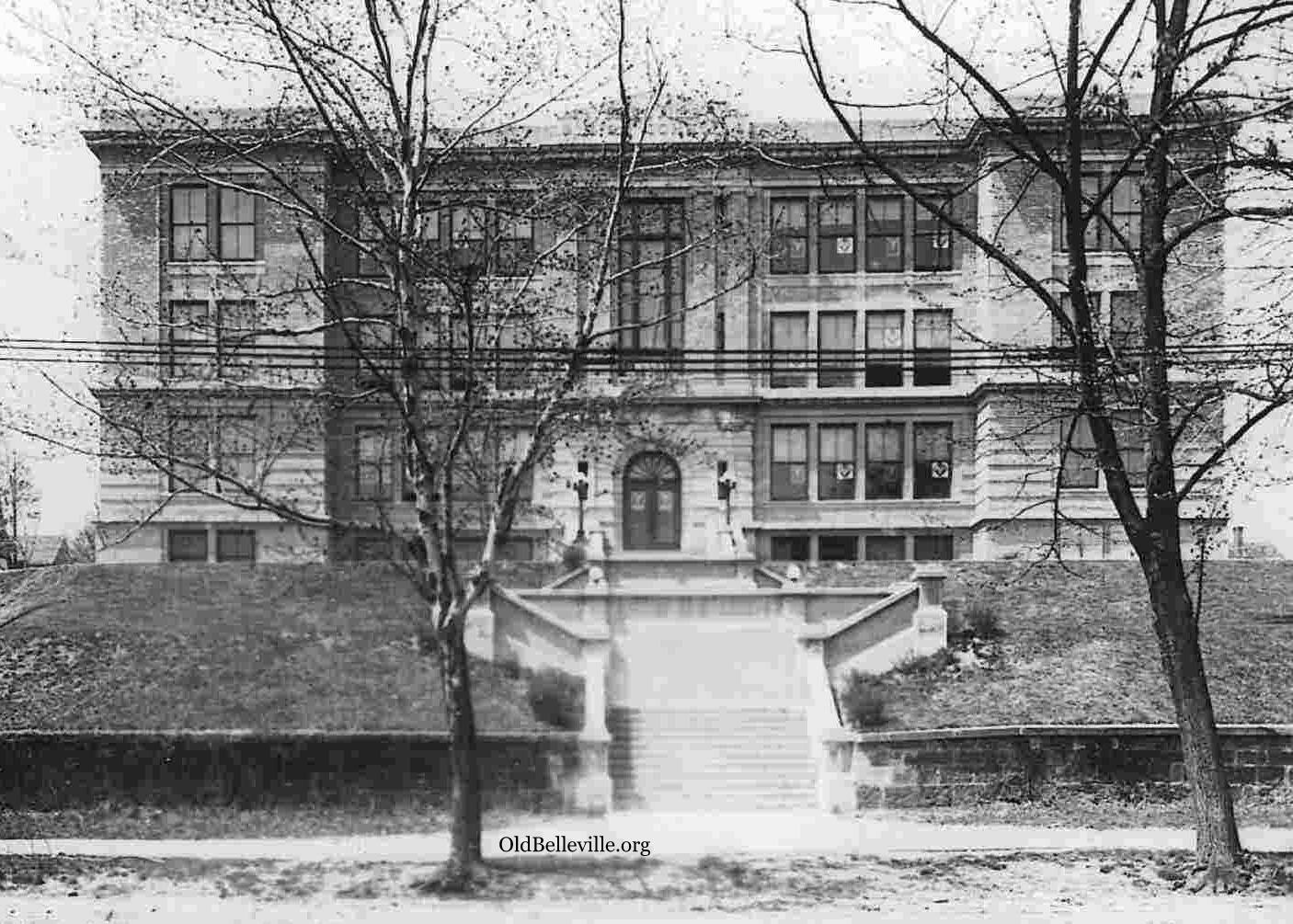 Belleville High School, approx 1915 footprint,, Belleville NJ